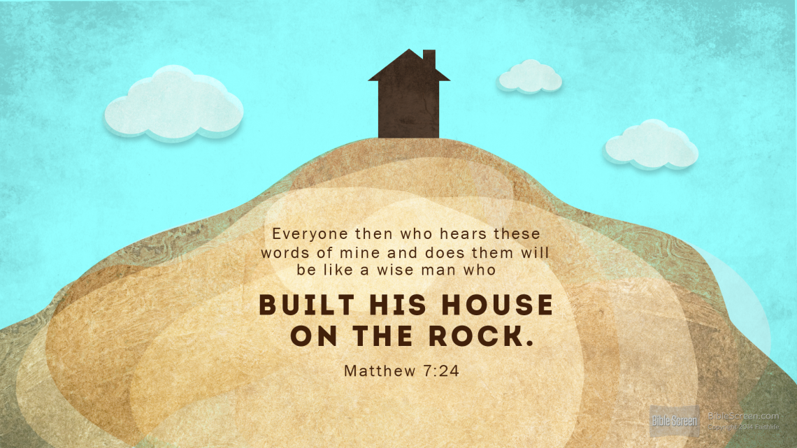 Bible Verse Building House On Sand