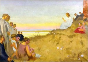 """Sermon on the Mount"" by Maurice Denis, ca. 1927."